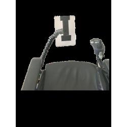 Bras articulé pour téléphone portable 60 cm fixation par pince